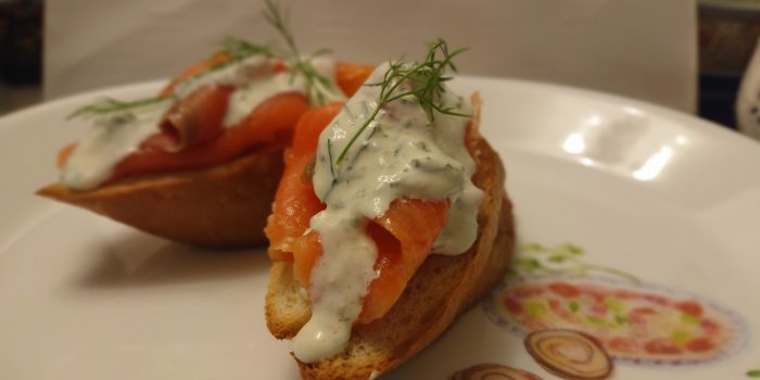 Salmon Dill Sour Cream